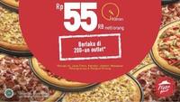 <p>Pizza Hut menawarkan harga unik nih, Bunda. All you can eat hanya Rp55 ribu saja per orang. Dan berlaku dari 3 hingga 14 Agustus 2020.</p>