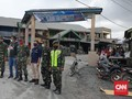 TNI-Polri Cegah Warga Masuk Zona Merah Gunung Sinabung