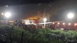 Bertambah, Korban Tewas Pesawat Terbelah 2 di India 17 Orang