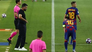 FOTO: Messi Gemilang, Barcelona Selamat di Liga Champions