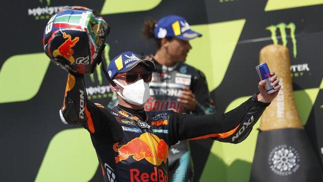 Brad Binder merangsek ke posisi kelima klasemen sementara MotoGP 2020 usai menjuarai MotoGP Ceko.