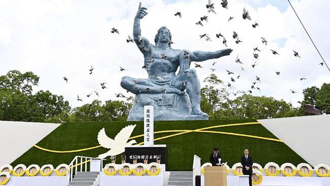 Pidato peringatan 75 tahun Bom Nagasaki Walikota Nagasaki, Tomihisa Taue menyinggung langkah konkret pelarangan nuklir oleh pemimpin dunia, termasuk Jepang.