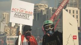 VIDEO: Warga Libanon Bentrok dengan Polisi, Tuntut Revolusi