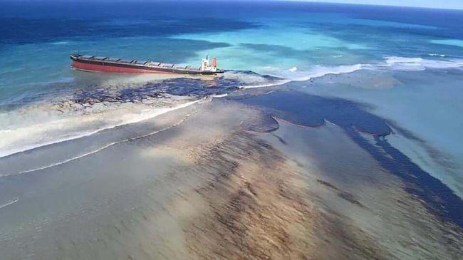 Jepang mengirim tim ahli untuk membersihkan tumpahan minyak di Mauritius.