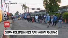 VIDEO: Dampak Gage, Stasiun Bogor Alami Lonjakan Penumpang