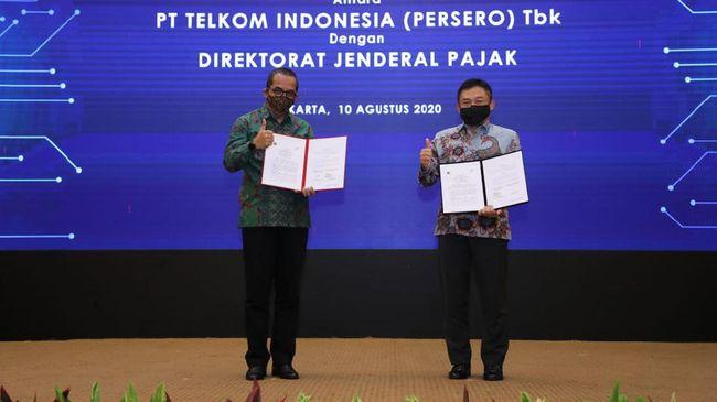 Ditjen Pajak menggandeng PT Telekomunikasi Indonesia (Persero) Tbk atau Telkom untuk mengembangkan integrasi data perpajakan.