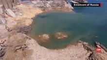 VIDEO: Melihat Kawah Sedalam 43 Meter Bekas Ledakan Beirut