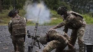 FOTO: Laga Taruna Akademi Militer West Point saat Pandemi