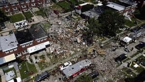 FOTO: Insiden Ledakan Gas Alam di Baltimore