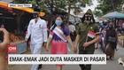 VIDEO: Emak-emak Jadi Duta Masker di Pasar