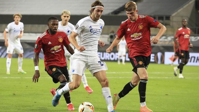 Dua pemain MU, Brandon Williams dan Fred, merasakan penampilan apik skuad Copenhagen di laga perempat final Liga Europa.
