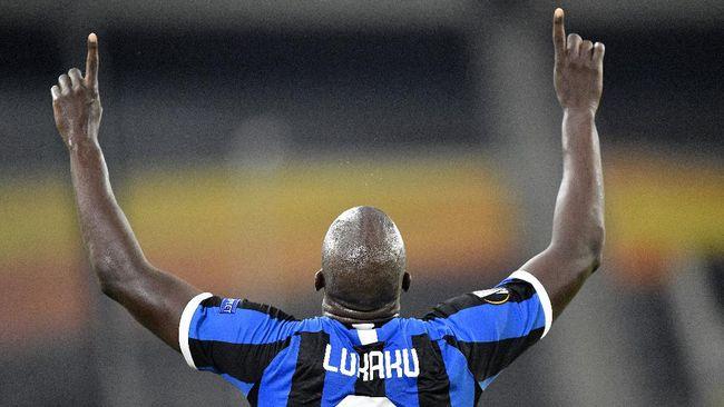 Penyerang Inter Milan Romelu Lukaku terpilih sebagai pemain terbaik Liga Europa 2019/2020.