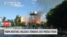 VIDEO: Pabrik Bioetanol Meledak & Terbakar, 1 Pekerja Tewas