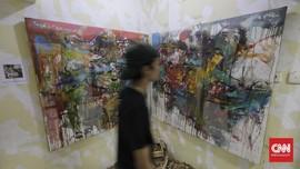 FOTO: Galeri Seni Rupa di Tengah Pasar Gembrong Baru