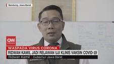 VIDEO: Ridwan Kamil Jadi Relawan Uji Klinis Vaksin Covid-19