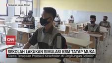 VIDEO: Sekolah di Sidoarjo Lakukan Simulasi KBM Tatap Muka