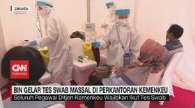 VIDEO: BIN Gelar Tes Swab Massal di Perkantoran Kemenkeu