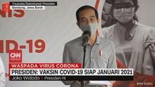 VIDEO: Jokowi: Vaksin Covid-19 Siap Januari 2021