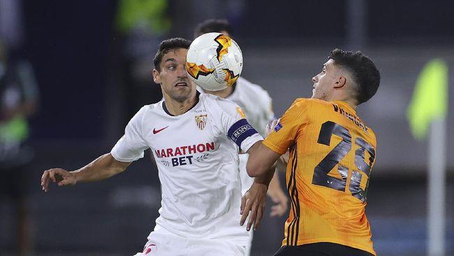 Sevilla lolos ke semifinal Liga Europa usai mengalahkan Wolverhampton Wanderers di Schauinsland-Reisen-Arena, Rabu (12/8) dini hari.