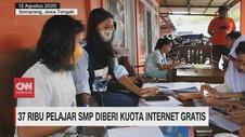 VIDEO: 37 Ribu Pelajar SMP Diberi Kuota Internet Gratis
