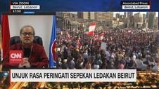 VIDEO: Aksi Demo Peringati Sepekan Ledakan di Beirut