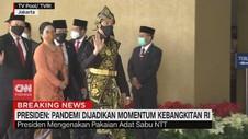 VIDEO: Jokowi Pakai Baju Adat NTT di Pidato Kenegaraan