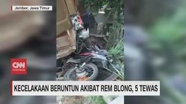 VIDEO: Kecelakaan Beruntun Akibat Rem Blong, 5 Tewas
