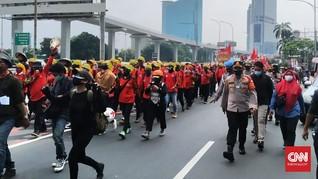 Buruh dan Petani Bergerak Kepung DPR saat Jokowi Pidato