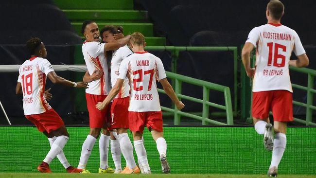Kemenangan atas Atletico Madrid mengantarkan RB Leipzig ke level yang sama dengan klub raksasa Jerman, Bayern Munchen.