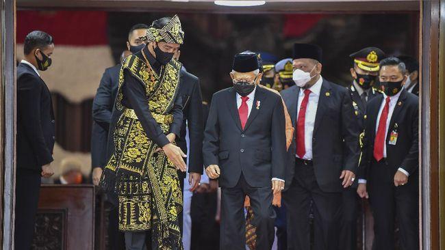 Presiden Jokowi menganggarkan Rp414 triliun untuk infrastruktur di RAPBN 2021 atau lebih rendah 2,19 persen dari APBN 2020.