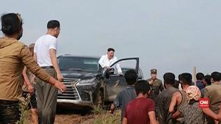 VIDEO: Tinjau Banjir, Kim Jong-un Tak Mau Terima Bantuan