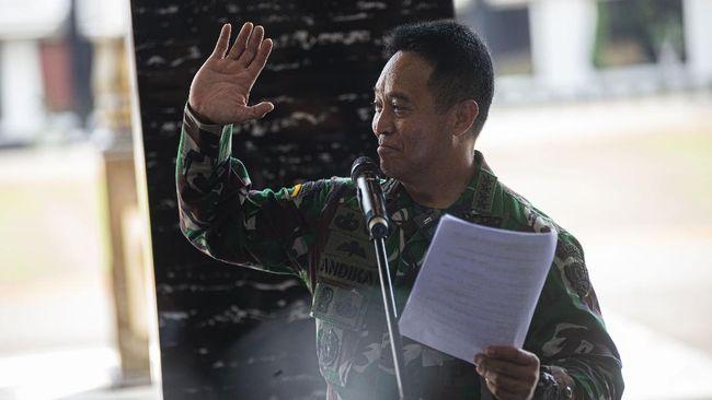Wakil Ketua Pelaksana I KPC PEN Jendral Andika Prakasa menyambangi kantor Gubernur DKI Jakarta Anies Baswedan untuk menanyakan update Covid-19.