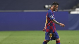 Barcelona Dibantai Munchen, Messi Termenung di Ruang Ganti
