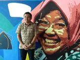 Baliho Machfud Arifin Lanjutkan Risma Beredar di Surabaya