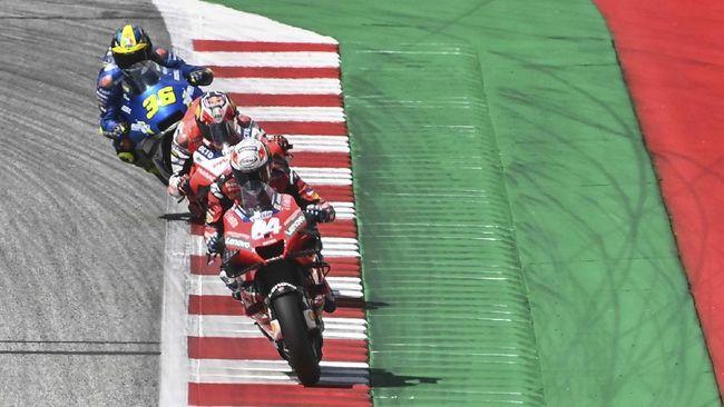 Puncak klasemen MotoGP 2020 masih dipegang Andrea Dovizioso setelah Maverick Vinales menang MotoGP Emilia Romagna di Sirkuit Misano.