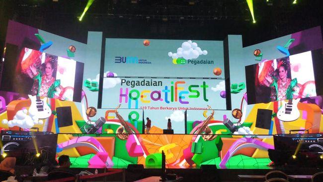 Merayakan ulang tahun ke-119, PT Pegadaian mengadakan acara virtual Kreatifest yang spektakuler di Trans Studio Cibubur.