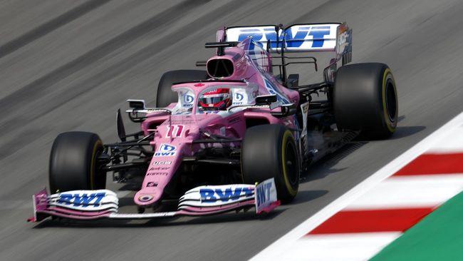 Pembalap Racing Point Sergio Perez keluar sebagai juara Formula 1 GP Sakhir pada Senin (7/12) dini hari WIB.
