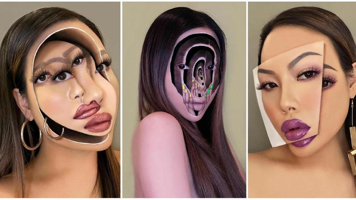 Kreasi Surreal Makeup Unik ala Beauty Vlogger Mimi Choi, Bikin Merinding!