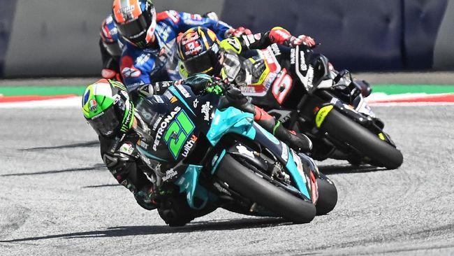 Franco Morbidelli menjadi yang tercepat pada sesi latihan bebas ketiga atau FP3 MotoGP Aragon di Sirkuit Sirkuit Motorland Aragon, Sabtu (17/10).