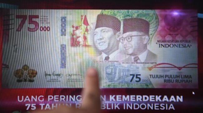 Bank Indonesia (BI) membuka jalur penukaran uang pecahan Rp75 ribu di bank mulai hari ini, Kamis (1/10). Berikut persyaratannya.