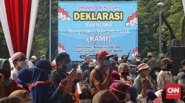 Koalisi Aksi Menyelamatkan Indonesia (KAMI) Syahganda Nainggolan ditangkap kepolisian pada pukul 04.00 WIB, Selasa (13/10).