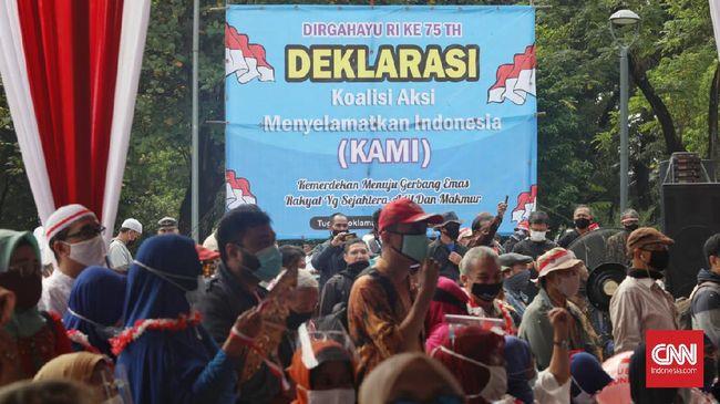 Koalisi Aksi Menyelamatkan Indonesia menyatakan tak punya hubungan struktural dengan KAMI di daerah, termasuk Medan.