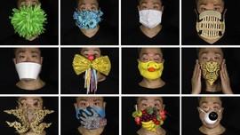 FOTO: 170 Masker Unik Tentang Pandemi dan Politik Hong Kong