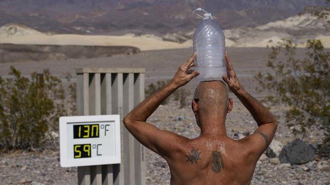 Kepala Pusat Meteorologi Publik BMKG, Fachri Radjab, menjelaskan fenomena suhu panas ekstrem yang mencapai 54,4 derajat Celcius di Death Valley, AS.