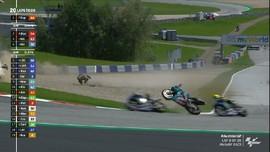 VIDEO: Dua Kecelakaan Hebat di MotoGP Austria 2020