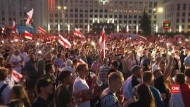 VIDEO: Demo Tolak Hasil Pilpres Belarus Memasuki Hari ke-10