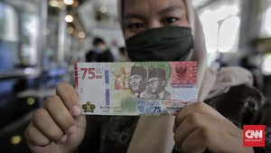 Besok, Semua Bank Bisa Layani Tukar Uang Baru Rp75 Ribu