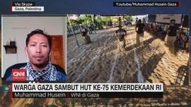 VIDEO: Warga Gaza Sambut HUT ke-75 Kemerdekaan RI