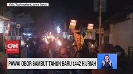 VIDEO: Pawai Obor Sambut Tahun Baru 1442 Hijriah