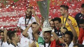 FOTO: Tekuk Inter, Sevilla Rengkuh Trofi Keenam Liga Europa